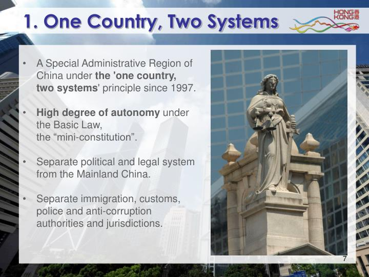 1. One Country, Two Systems