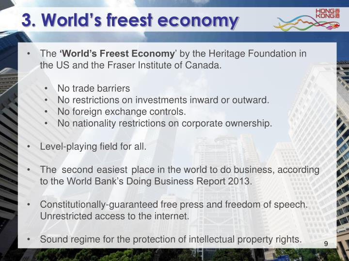 3. World's freest economy