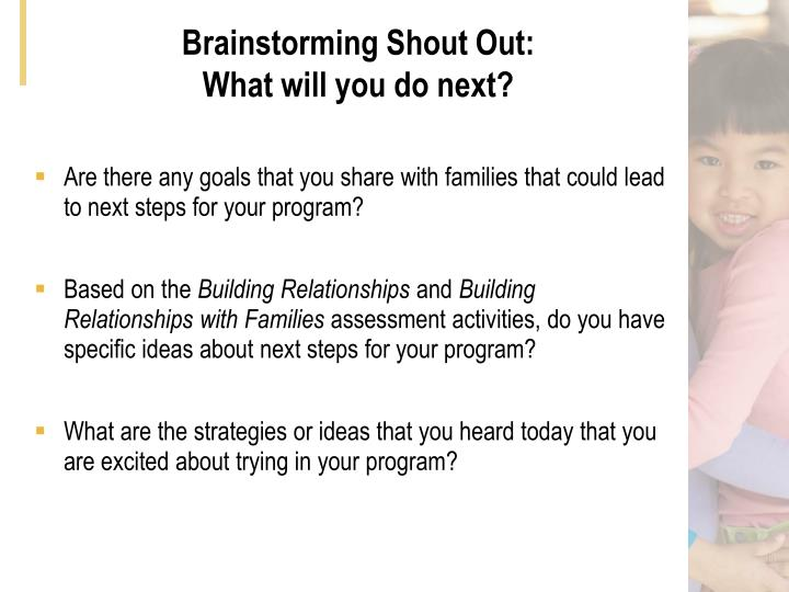Brainstorming Shout Out:
