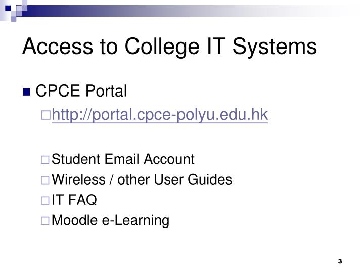 Access to college it systems