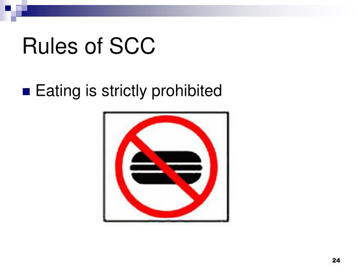 Rules of SCC