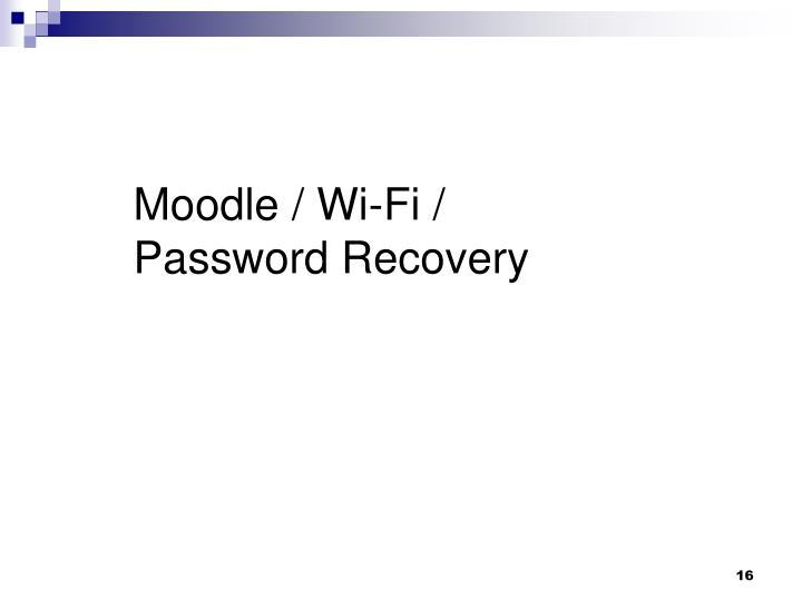 Moodle / Wi-Fi /