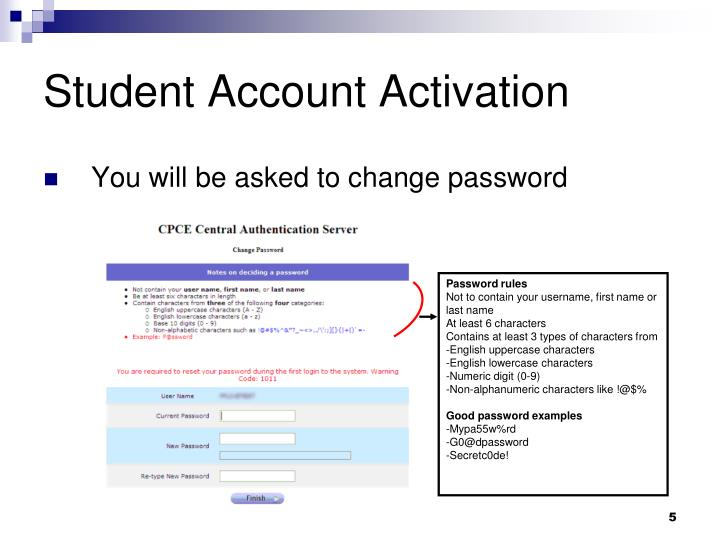 Student Account Activation