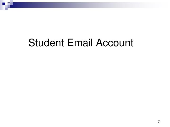 Student Email Account