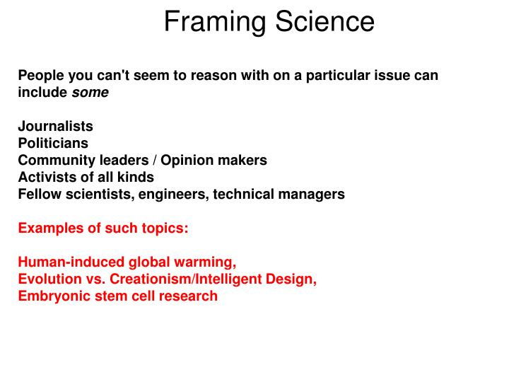 Framing Science