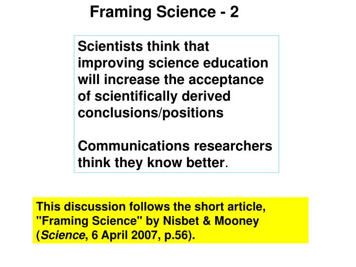 Framing Science - 2