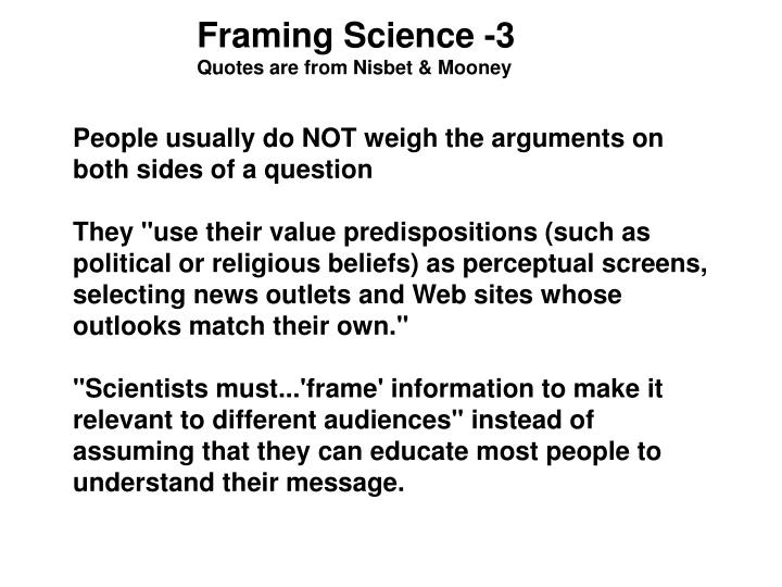 Framing Science -3