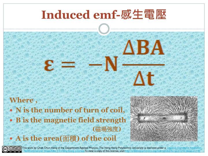 Induced emf-