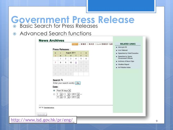 Government Press Release