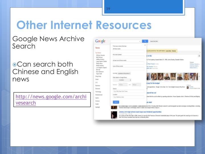 Other Internet Resources