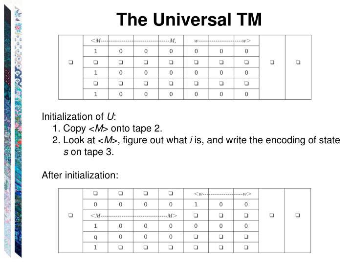 The Universal TM