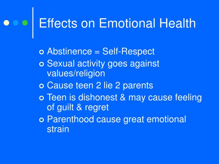 Effects on Emotional Health