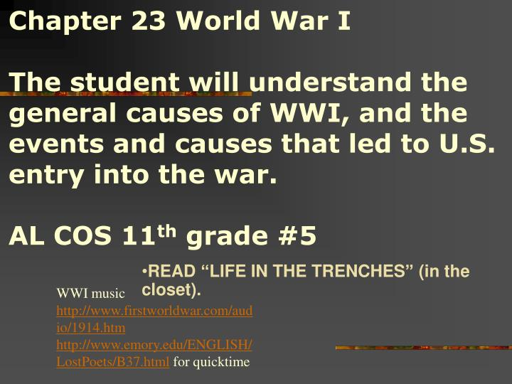 Chapter 23 World War I