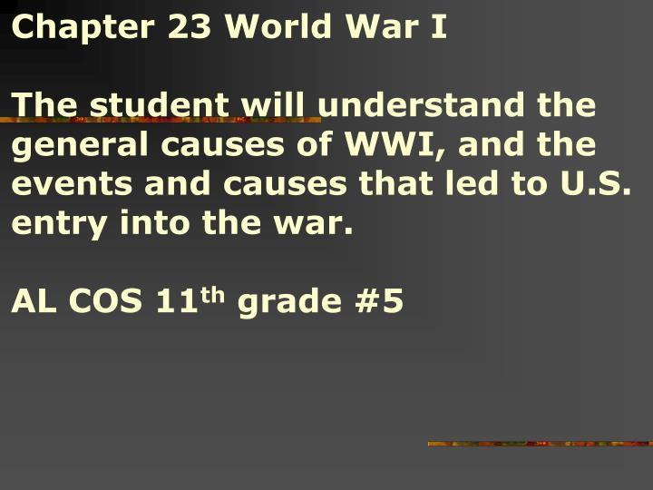 Chapter 23 World War I
