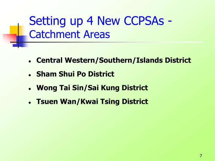 Setting up 4 New CCPSAs -