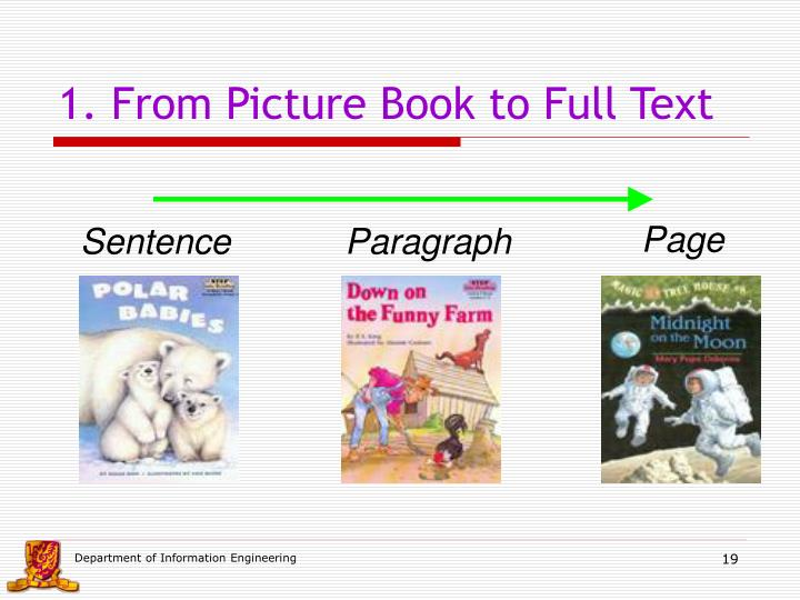 1. From Picture Book to Full Text