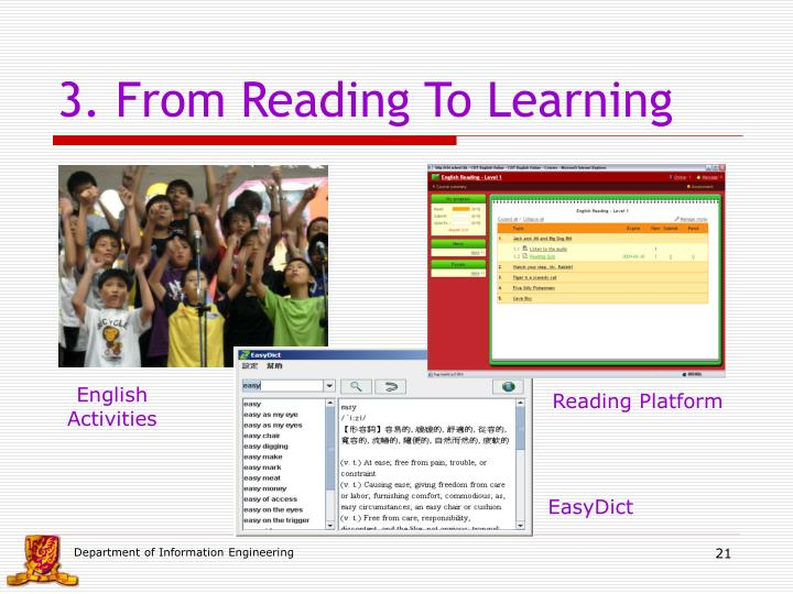 3. From Reading To Learning