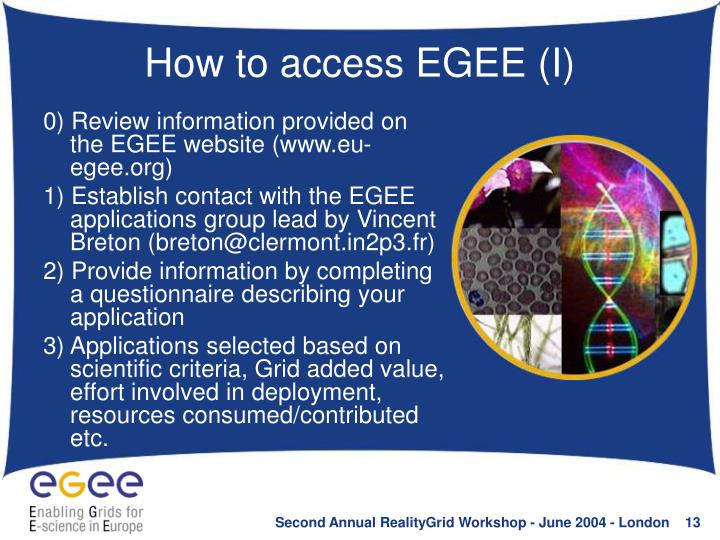 How to access EGEE (I)