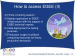 how to access egee ii
