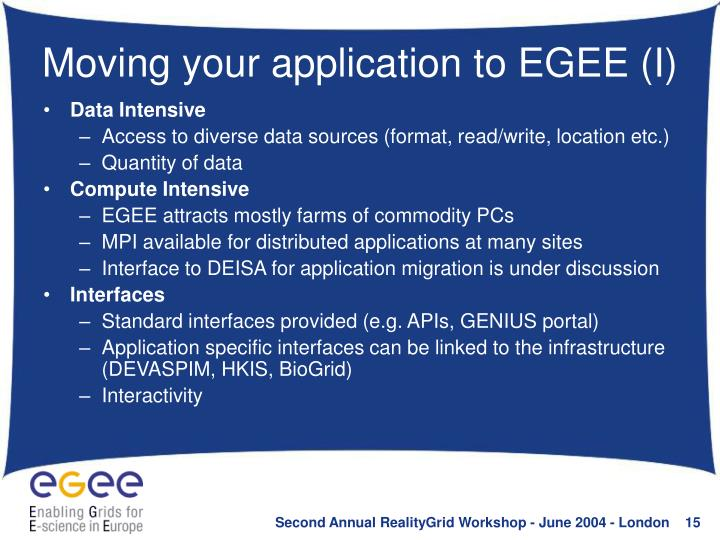 Moving your application to EGEE (I)