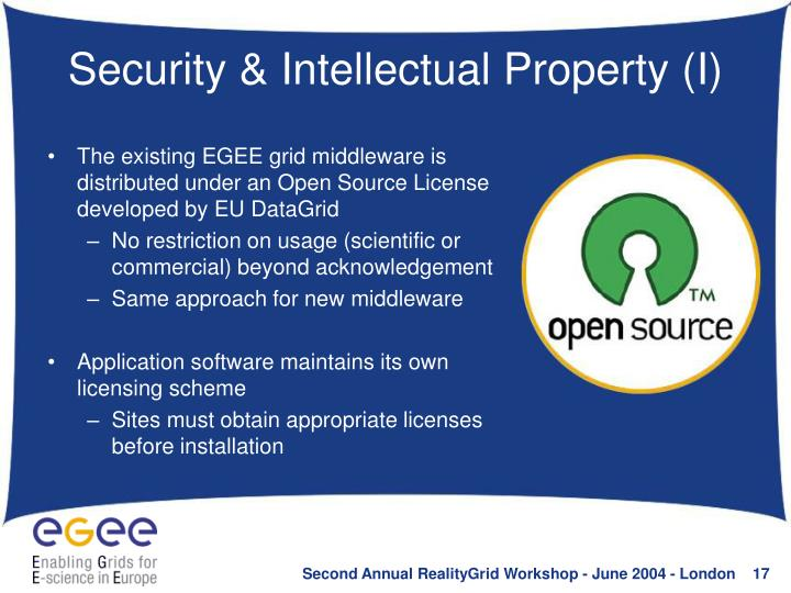 Security & Intellectual Property (I)