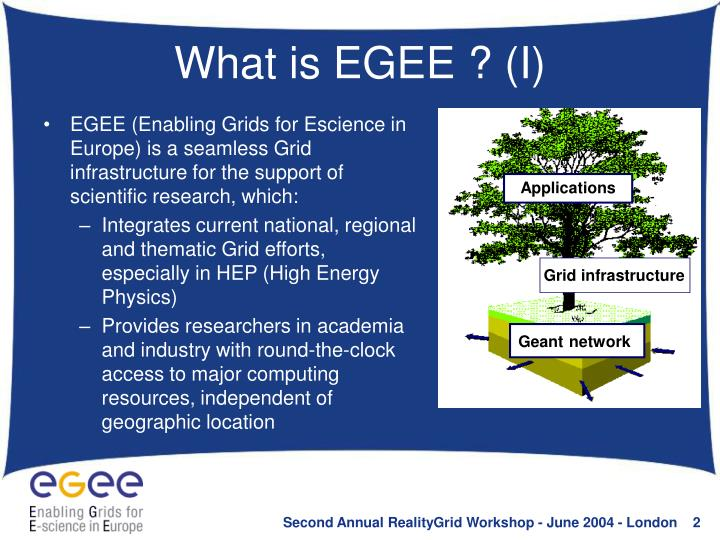 What is EGEE ? (I)