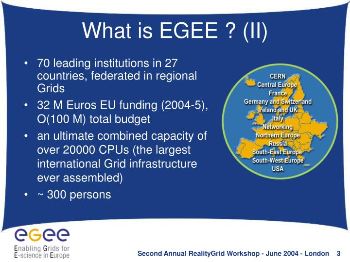 What is EGEE ? (II)