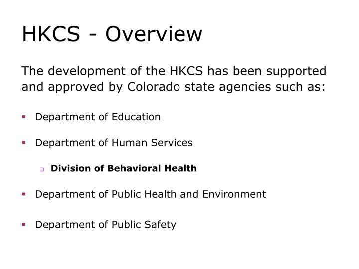 HKCS - Overview