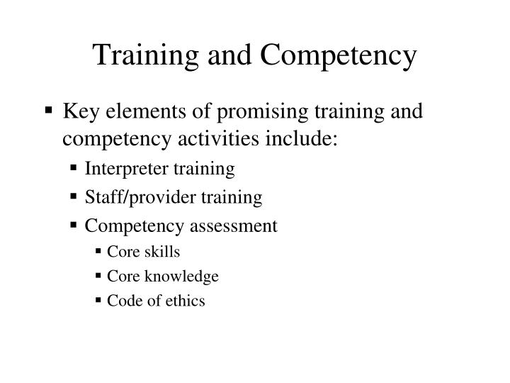 Training and Competency