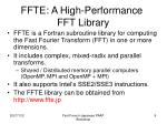 ffte a high performance fft library