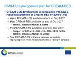 omii eu development plan for cream bes