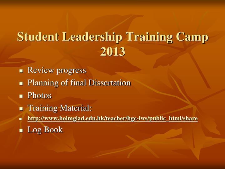Student Leadership Training Camp