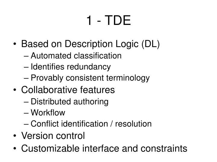 1 - TDE