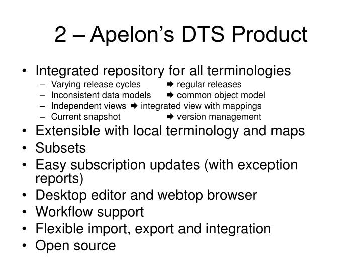2 – Apelon's DTS Product