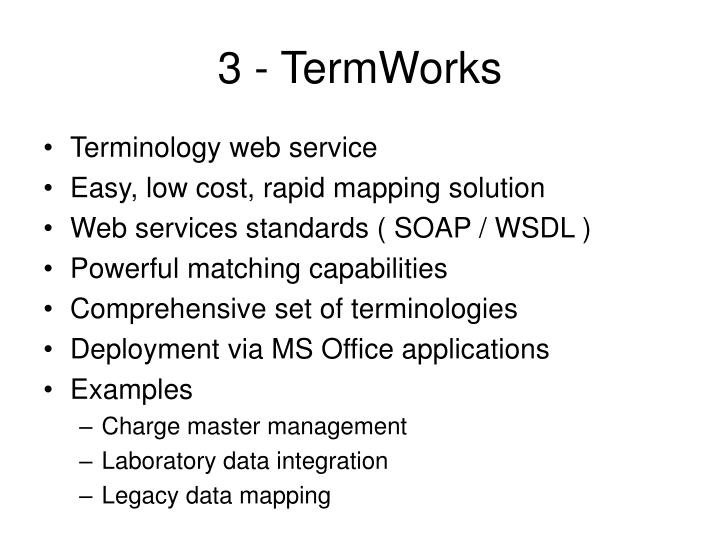 3 - TermWorks
