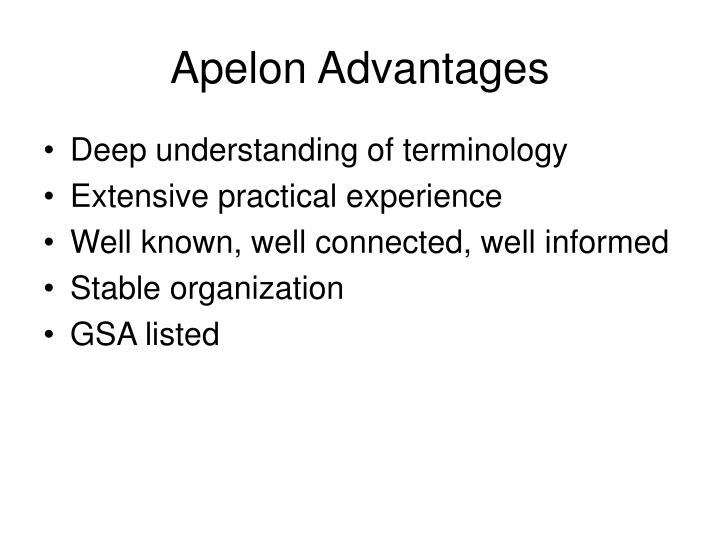 Apelon Advantages