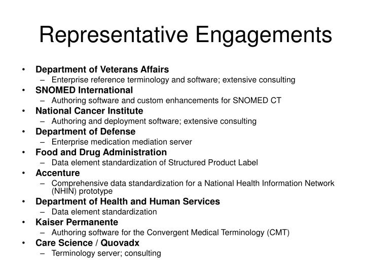 Representative Engagements