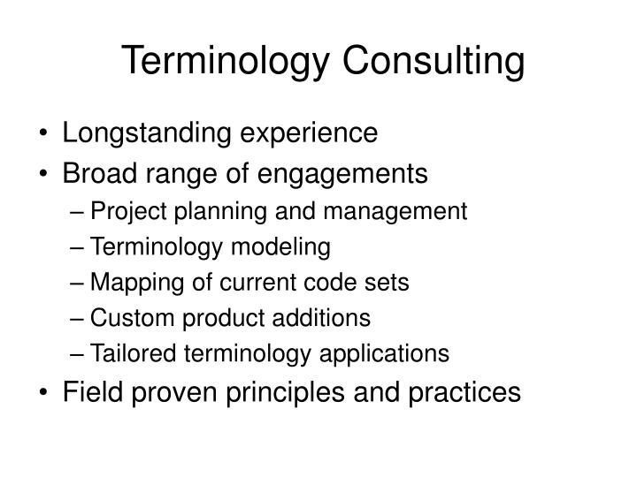 Terminology Consulting