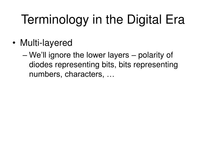 Terminology in the Digital Era