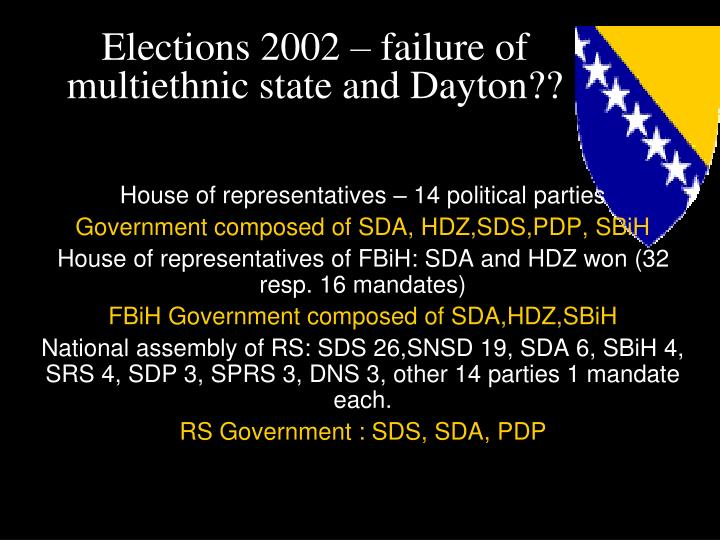 Elections 2002 – failure of multiethnic state and Dayton??