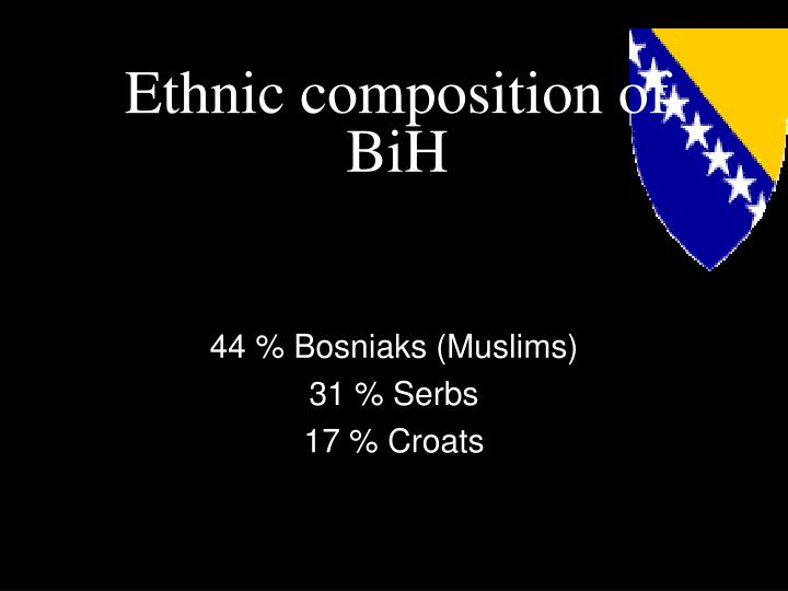 Ethnic composition of BiH