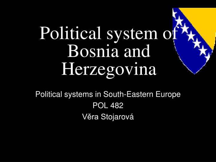Political system of bosnia and herzegovina