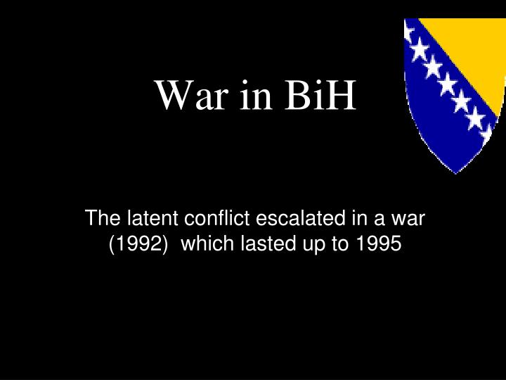War in BiH
