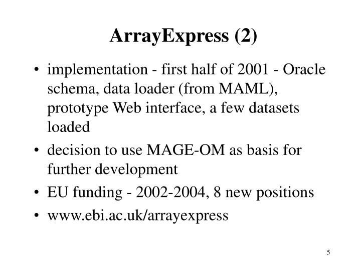 ArrayExpress (2)