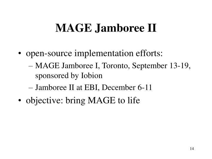 MAGE Jamboree II