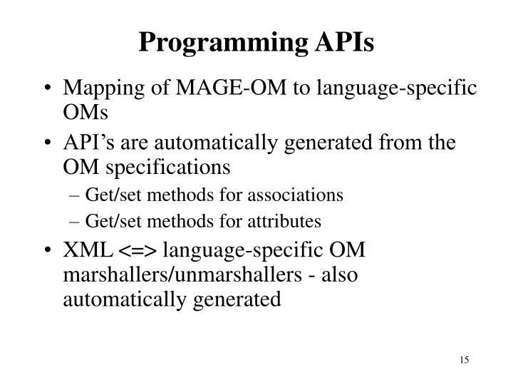 Programming APIs