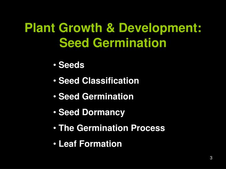 Plant Growth & Development: