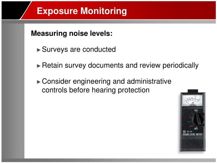 Exposure Monitoring