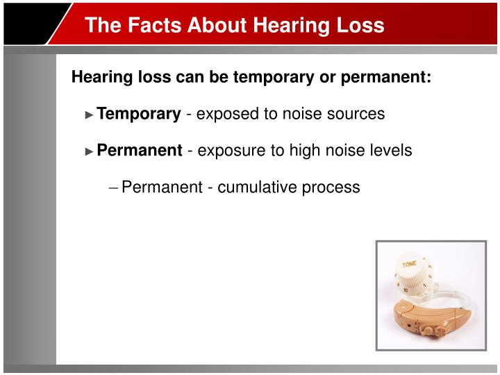 The Facts About Hearing Loss