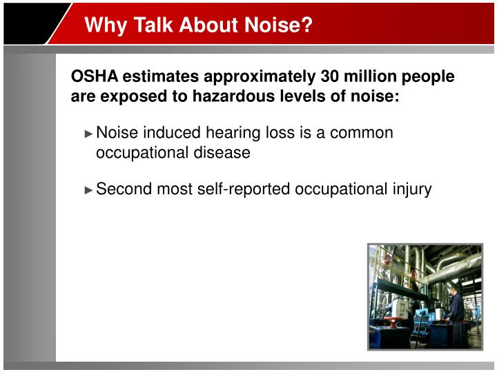 Why Talk About Noise?